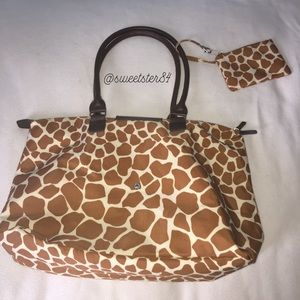 Handbags - Like New - Giraffe print tote bag/purse w/coin bag